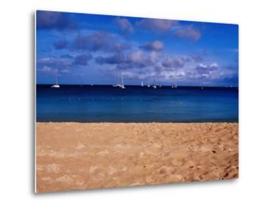 Reduit Beach and Yachts on Rodney Bay-Richard l'Anson-Metal Print