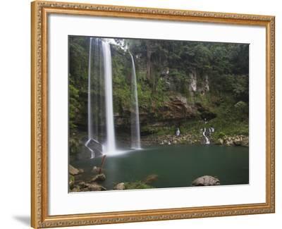 Misol-Ha Waterfall Near Palenque-Sean Caffrey-Framed Photographic Print