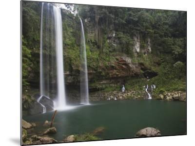 Misol-Ha Waterfall Near Palenque-Sean Caffrey-Mounted Photographic Print
