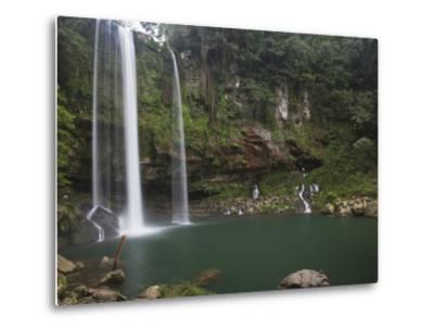Misol-Ha Waterfall Near Palenque-Sean Caffrey-Metal Print