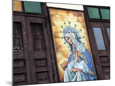 Mary and Jesus Religious Mural Next to Catedral De San Juan (San Juan Cathedral)-Rachel Lewis-Mounted Photographic Print