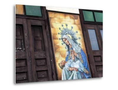 Mary and Jesus Religious Mural Next to Catedral De San Juan (San Juan Cathedral)-Rachel Lewis-Metal Print