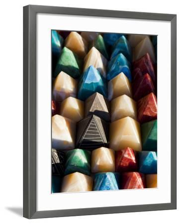 Souvenir Pyramids for Sale at Shop in Sohael Nubian Village-Richard l'Anson-Framed Photographic Print