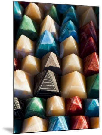 Souvenir Pyramids for Sale at Shop in Sohael Nubian Village-Richard l'Anson-Mounted Photographic Print