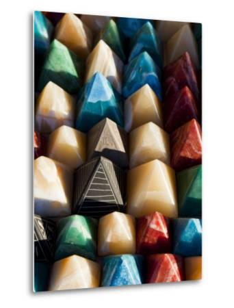 Souvenir Pyramids for Sale at Shop in Sohael Nubian Village-Richard l'Anson-Metal Print
