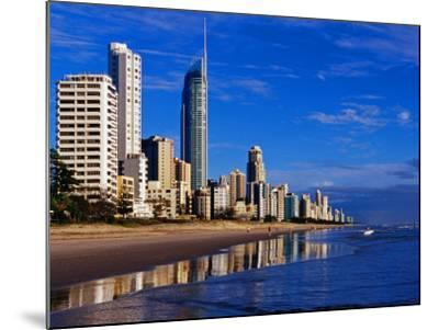 Hi-Rise Apartment Buildings and Surfers Paradise Beach-Richard l'Anson-Mounted Photographic Print