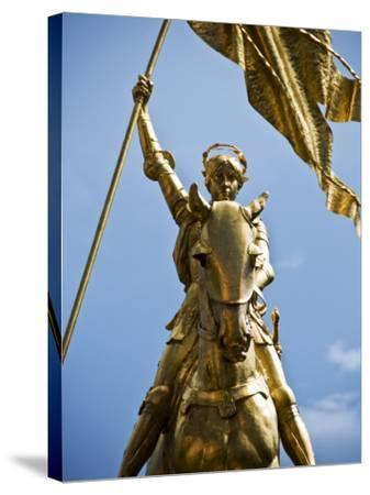 Gold Plated Statue of St. Joan of Arc in the French Quarter on Decator Street-Ray Laskowitz-Stretched Canvas Print