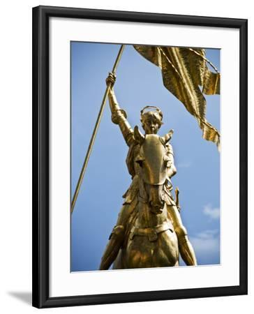 Gold Plated Statue of St. Joan of Arc in the French Quarter on Decator Street-Ray Laskowitz-Framed Photographic Print