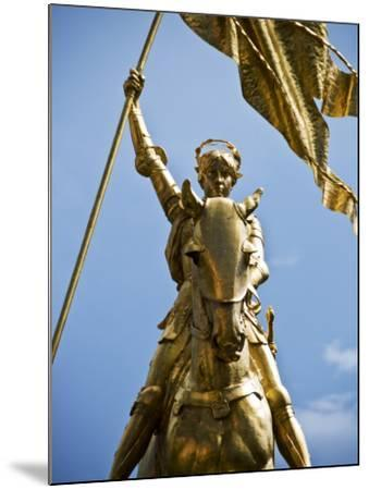 Gold Plated Statue of St. Joan of Arc in the French Quarter on Decator Street-Ray Laskowitz-Mounted Photographic Print