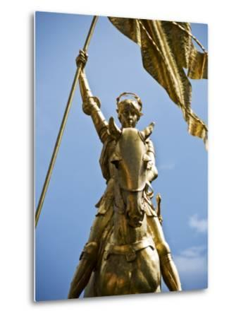 Gold Plated Statue of St. Joan of Arc in the French Quarter on Decator Street-Ray Laskowitz-Metal Print