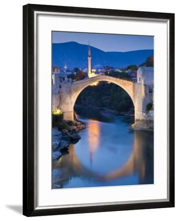 Stari Most or Old Bridge over Neretva River at Dusk-Richard l'Anson-Framed Photographic Print