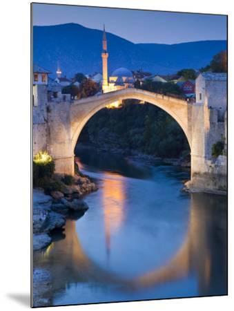 Stari Most or Old Bridge over Neretva River at Dusk-Richard l'Anson-Mounted Photographic Print