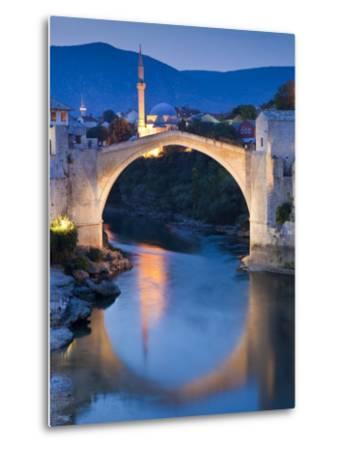 Stari Most or Old Bridge over Neretva River at Dusk-Richard l'Anson-Metal Print