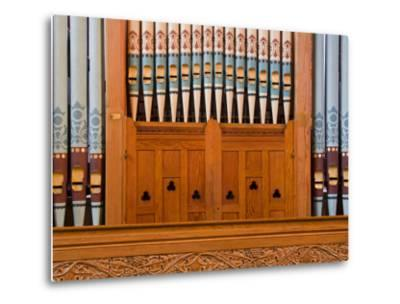 Organ in Christchurch Cathedral-Richard Cummins-Metal Print