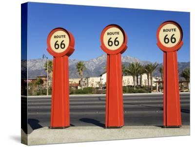 Route 66 Signs-Richard Cummins-Stretched Canvas Print