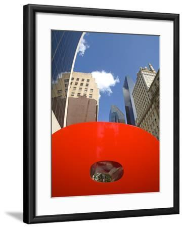 Red 9 Sculpture, Nine West 57th Street, Midtown Manhattan-Richard Cummins-Framed Photographic Print