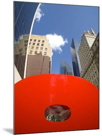 Red 9 Sculpture, Nine West 57th Street, Midtown Manhattan-Richard Cummins-Mounted Photographic Print
