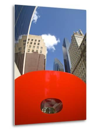 Red 9 Sculpture, Nine West 57th Street, Midtown Manhattan-Richard Cummins-Metal Print
