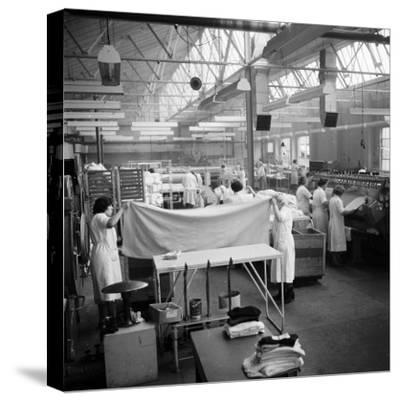 Laundry Workers-Chaloner Woods-Stretched Canvas Print