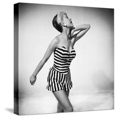 Black and White-Chaloner Woods-Stretched Canvas Print