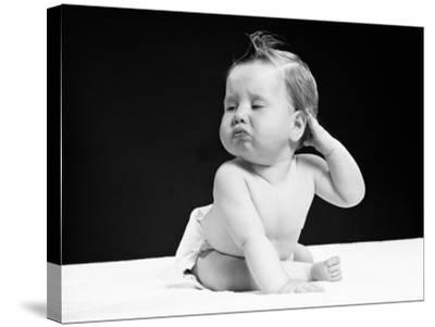Baby With Hand on Ear-H^ Armstrong Roberts-Stretched Canvas Print