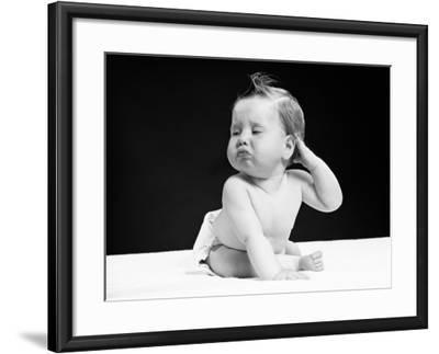 Baby With Hand on Ear-H^ Armstrong Roberts-Framed Premium Photographic Print