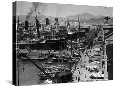 Shipping Docks, Kowloon, Hong Kong-H^ Armstrong Roberts-Stretched Canvas Print