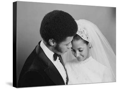 Newlywed Couple, Groom Leaning in Towards Bride-H^ Armstrong Roberts-Stretched Canvas Print