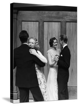 Couples Dancing-H^ Armstrong Roberts-Stretched Canvas Print