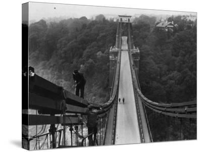 Suspension Bridge--Stretched Canvas Print