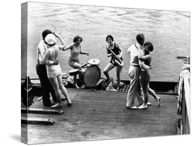Jazz on the River--Stretched Canvas Print