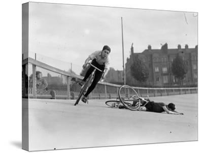 Bike Accident--Stretched Canvas Print