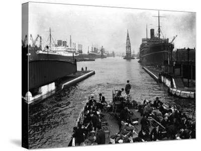 London Docks--Stretched Canvas Print