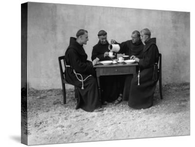 Hungry Monks--Stretched Canvas Print