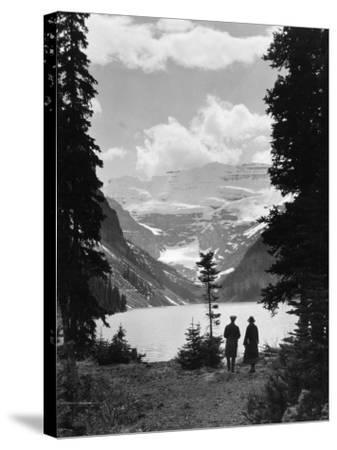 Lake Louise--Stretched Canvas Print