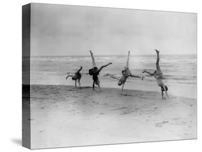 Cartwheels--Stretched Canvas Print