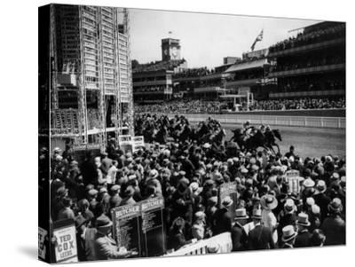 Ascot Races--Stretched Canvas Print