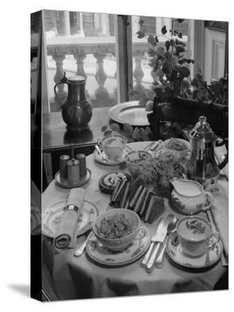 Breakfast Table-Chaloner Woods-Stretched Canvas Print