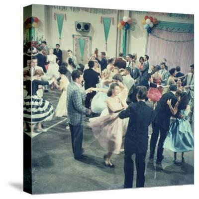 Teenage Couples (15-18) Dancing at Party--Stretched Canvas Print