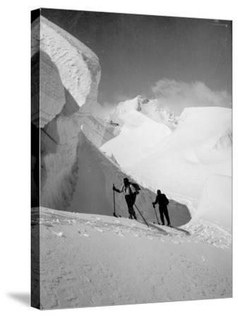 Skiers--Stretched Canvas Print