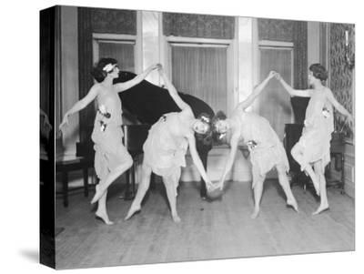 Four Young Women Performing Modern Dance--Stretched Canvas Print