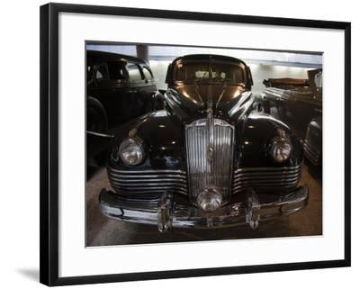 Joseph Stalin in His Kremlin Limousine, Riga Motor Museum, Riga, Latvia-Walter Bibikow-Framed Photographic Print