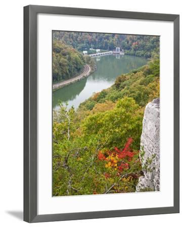 Kanawha River Overlook, Hawks Nest State Park, Anstead, West Virginia, USA-Walter Bibikow-Framed Photographic Print