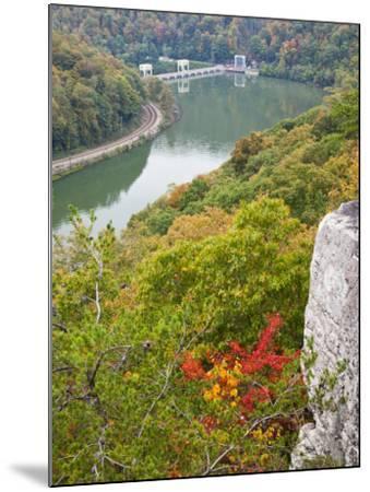 Kanawha River Overlook, Hawks Nest State Park, Anstead, West Virginia, USA-Walter Bibikow-Mounted Photographic Print