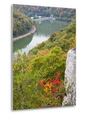 Kanawha River Overlook, Hawks Nest State Park, Anstead, West Virginia, USA-Walter Bibikow-Metal Print