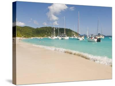 Popular Moorings For Bareboaters and Charter Sail, White Bay, Jost Van Dyke, Bvi-Trish Drury-Stretched Canvas Print