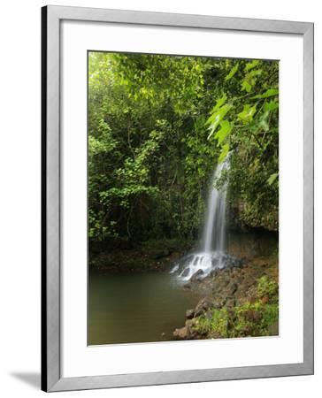 Kalihiwai Stream and Waterfall, Hawaii, USA-Douglas Peebles-Framed Photographic Print