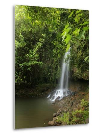 Kalihiwai Stream and Waterfall, Hawaii, USA-Douglas Peebles-Metal Print