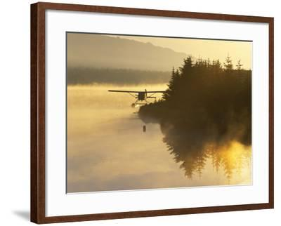 Float Plane on Beluga Lake at Dawn, Homer, Alaska, USA-Adam Jones-Framed Photographic Print