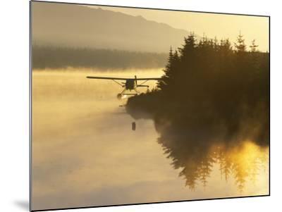 Float Plane on Beluga Lake at Dawn, Homer, Alaska, USA-Adam Jones-Mounted Photographic Print